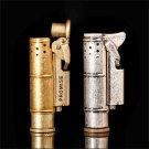 ROMISE trench copper lighter kerosene lighter retro portable men's creative personality gif