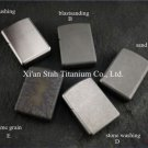 Titanium TC4 War Armor Oil Lighter Shell / Case Solid 1.7mm Thick Material Stronge Hinge Waterp