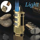 COHIBA Cuban turbine butane cigar lighter,Windproof 3 Jet Torch gas lighter for cigar cigarette