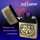 Creative Arc Lighter Metal Rechargeable Windproof Cigarette Lighter High-end Gadget for Men Lig