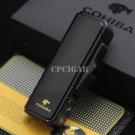 COHIBA Black Metal Powerful Windproof Butane Gas 3 Torch Jet Fire Flame Cigar Cigarette Lighter