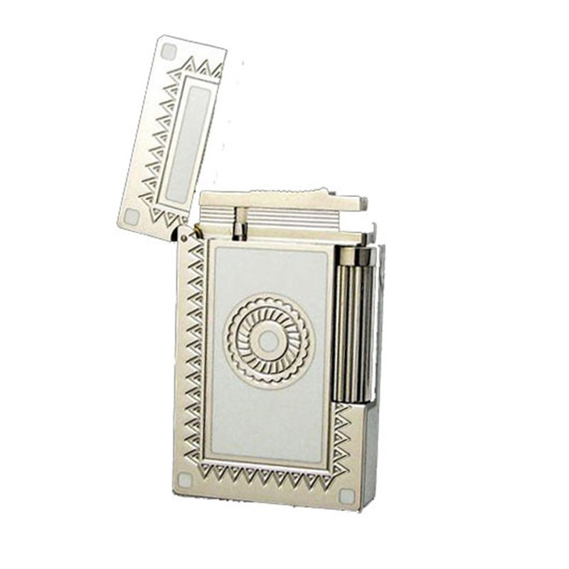 Cigarette Lighter Dupont Smoking Lighters Windproof Metal Gas Cigar lighter with Gift Box BC646
