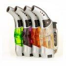 2pcs/lot butane gas lighter for cigarettes new spray gun lighter click advanced vaporizer torch