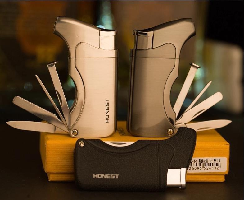 Gadgets, Windproof Metal Cigarette cigar lighter,Inflatable jet turbine lighter BC826