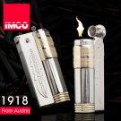 Genuine Austria IMCO brand steel oil lighter.Vintage Gold kerosene lighter,men's cigarette