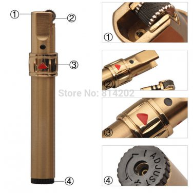 JOBON Steel Jet Flame Gas Cigarette Lighter Butane Cigar Torch Pipe Lighter  BC853