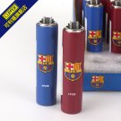 MC Barcelona limited CLIPPER metal gas lighter, inflatable flint wheel lighter BC882