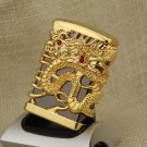 Heavy Armor Gold Color Gasoline, Kerosene Lighter,Dragon, Horse Men's Cigarette Lighter, Pi
