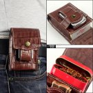 2 IN 1 Durable Genuine Leather Cigarette Case Box With Lighter Holder + Portable Metal Tobacco