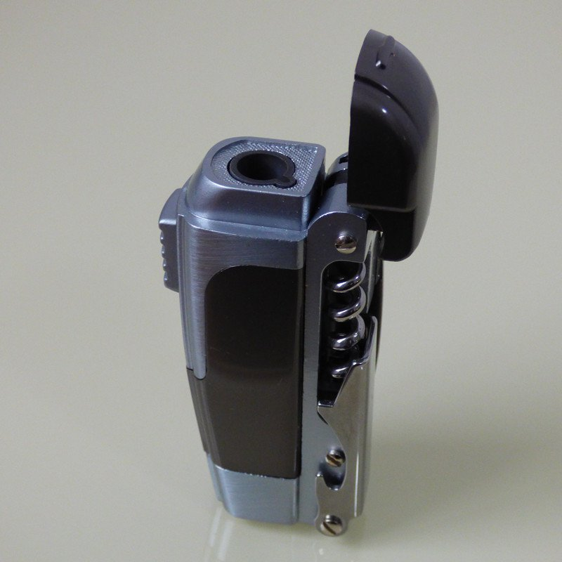 JET TORCH CIGARETTE LIGHTER WITH KNIFE AND OPENER BC986