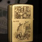 Copper metal windproof lighter kerosene one piece Luffy wanli sunlight  BC1064