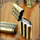 5pcs/pack novelty lighters Three Bullets Shaped Torch Flame Cigarette Lighter Butane Gas Fuel C