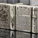 Lighter Five surface etching zh bible devil Satan praises wind BC1123