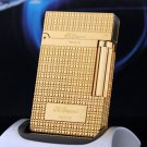 Pure Copper With Bright Gold Sliver S.TDupont Metal Lighter Windproof Cigarette Gas Lighter Ci
