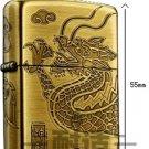 brand men Lighter four sides engraving  yellow dragon BC1145