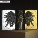 16 Style Art Relief Available Retro Metal Carving Lighters Grinder Fire Cigarette Lighter Infla