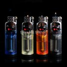 Firedog Float Fire Flint Wheel Refillable Butane Gas Cigarette Lighter With Switch lock BC1364