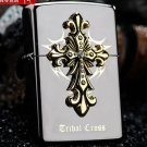 The original packing box cross windproof lighter kerosene tribe The blade of judgment of black