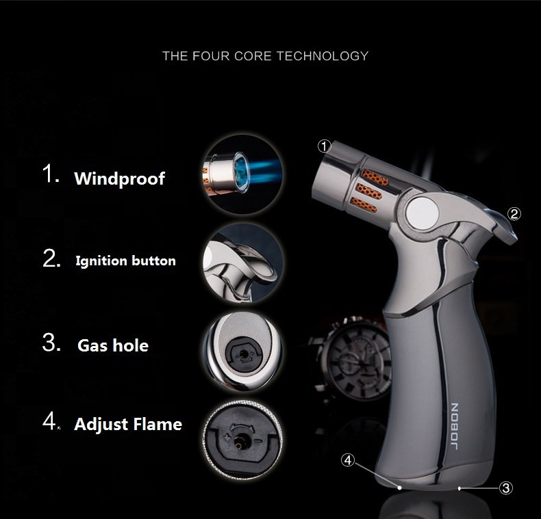 Jobon gas lighter metal cigar lighter lighter personality and creative personality BC1375