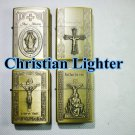 Relief kerosene lighter the Christian Cross of Our Lady of Jesus Maria retro lighter BC1395
