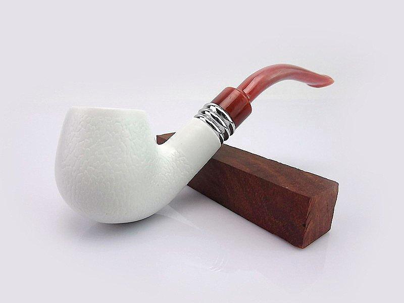 1pc Sepiolite Pipe Smoking Pipe Metal Screen Filter,   Pipe Cigarette Lighter Wood Pipe BC1402
