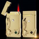 623 eagle head induction gas lighters, metal, windproof creative ultra-thin lighters BC1417