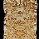 brand Authentic 3D Hand-carved lighters heavy armor Handmade silver/gold plated hollow skull B