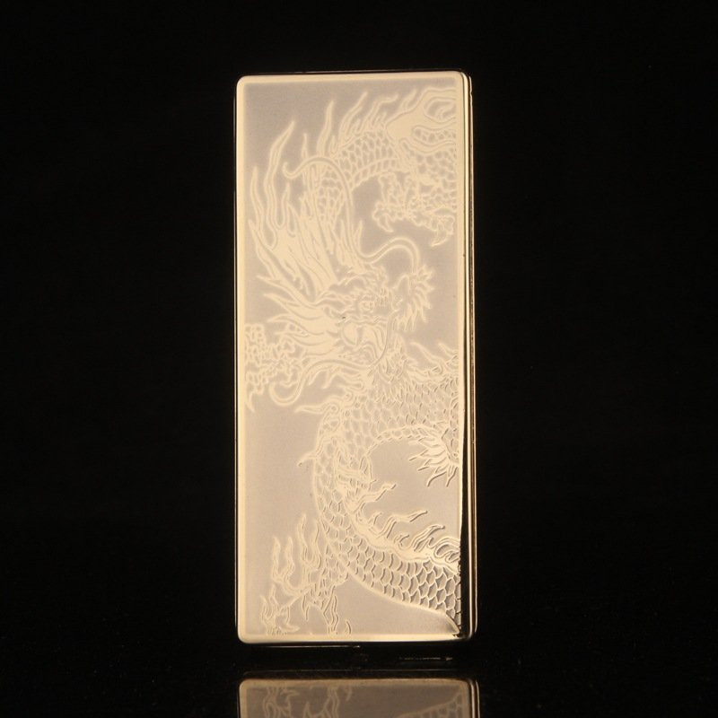 zincok wholesale skinny thin 6.8*2.8*1CM sliding closure windproof lighter ultra-thin charging