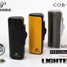 Original COHIBA Quality Metal Shape Butane Gas Windproof 3 Torch Jet Flame Cigarette Cigar Ligh