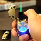 Creative Car Watch Shape Metal Gas Lighter Jet Flame Cigarette Cigar Butane Torch Windproof  Re