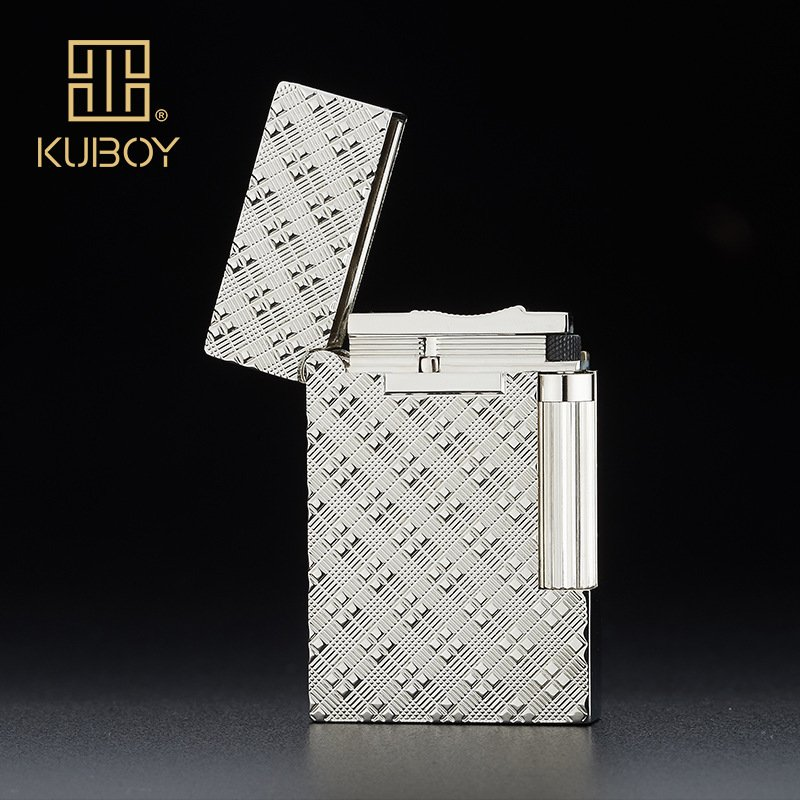 kuboy  bright sound K159 Ling silver drawing carving luxury men's gift  cigarette lighter B