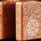 copper Brand lighter brass Shield Carved  Six words lighter overall Case cover TC4 War Armor 5