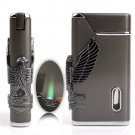 Eagle Pattern Cigarette Cigar Lighter Jet Flame Butane Lighter Tobacco Smoking Lighter BC2003