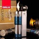 Genuine Austria IMCO brand steel oil lighter.Vintage Blue kerosene lighter,men's cigarette