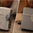 Kerosene, antique silver windproof lighter cross personality vintage old fashioned ultra-thin m