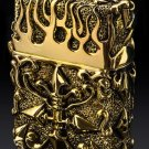 FOR  genuine Heavy handmade skull Hand-carved  Tibetan gold crazy pig perfect version  with tin