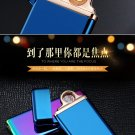 20167Charging lighter ultra-thin double-sided metal arc ignition electronic cigarette lighter c