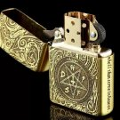 Authentic lighter brand Lighter copper 3 etching Satan chants BC2135