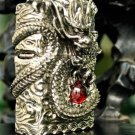 brand Authentic 3D Hand-carved lighters heavy armor Handmade Tibetan Silver Dragon BC2137