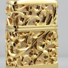 brand Authentic 3D Hand-carved lighters heavy armor Handmade gold hollow flower BC2141