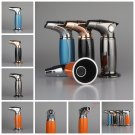 2016 HOT inflatable windproof lighter Men cigar torch cigarette lighter Personality ultra-thin