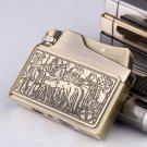 Kerosene lighter restoring ancient ways, creativity ultra-thin pure copper windproof lighters,