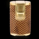 COHIBA Creative Design Snakeskin pattern Windproof Brand  Fove Torch Jet Flame Cigar Cigarette