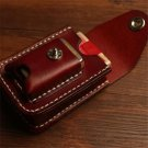 Retro  leather slim cigarette box with lighter case smoking accessories Bumbag cigarette packs