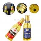Beer Bottles Butane Gas Refillable Cigarette Lighter Gone with the Wind Fire Wheels Fly Fire Li