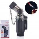 Black Quad Butane Lighter Welding Torch Cigar Lighter Gas Refillable Cigarette Smoking Lighter