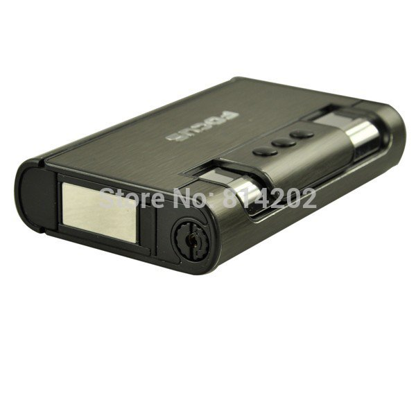 Focus Black Cigarette Tobacco Holder Aluminum Alloy Tobacco Box Automatic Ejection Cigarette Ca
