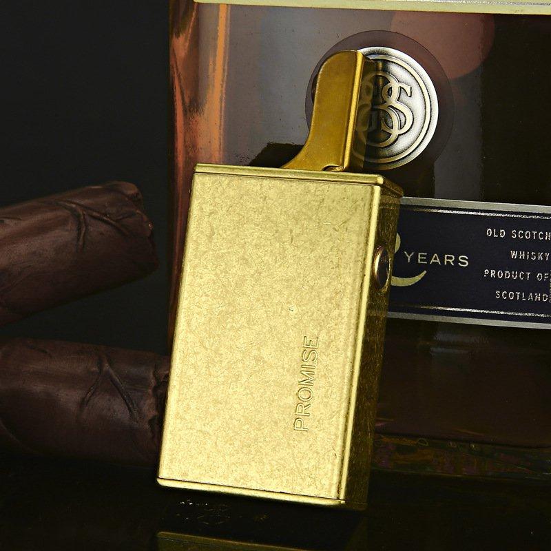Honest Metal brass retro gas lighters,Fire ignition smoking cigarette lighter gas 55mm*35mm*15m