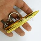 Bullet Shape Tobacco Cigar Cigarette Lighter Refillable Butane Gas Lighter with Keychain BC2694
