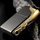 HYB brand zpo Genuine 3D Lighter Side Zipper Black x Gold  BC2710